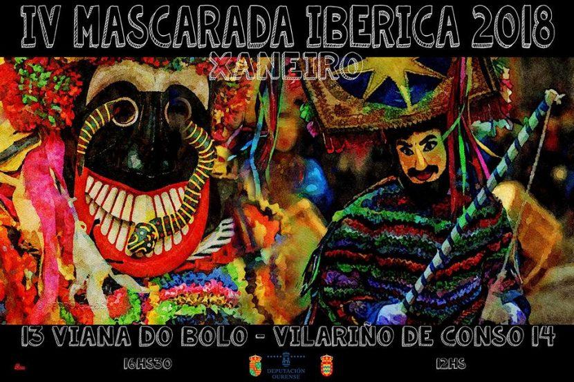 Cartaz III Mascarada Iberica Viana do Bolo e Vilariño de Conso 2018